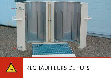 Réchauffeurs de fûts réalisation Thitec